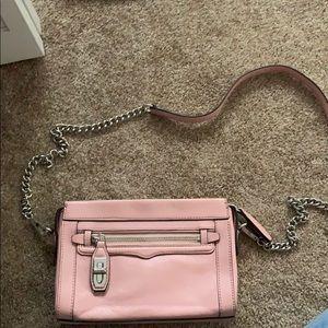 Rebecca minkoff pink leather crossbody bag